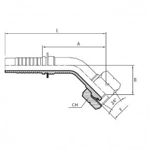 M13 - Priključak matica 45° (DKOL)