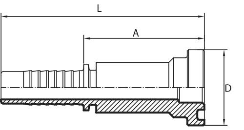 P10 SFL-3 PRIKLJUČAK PRIRUBNIČKI (SAE 3000)