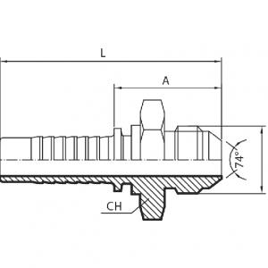 K20 - Muški priključak JIC (AGJ)