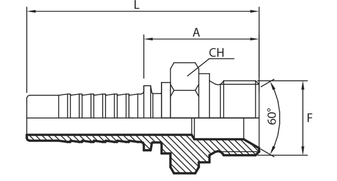H40 - Muški priključak BSPP (AGR)