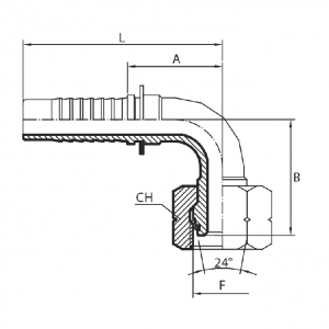 M21 - Priključak matica 90° (DKOS)