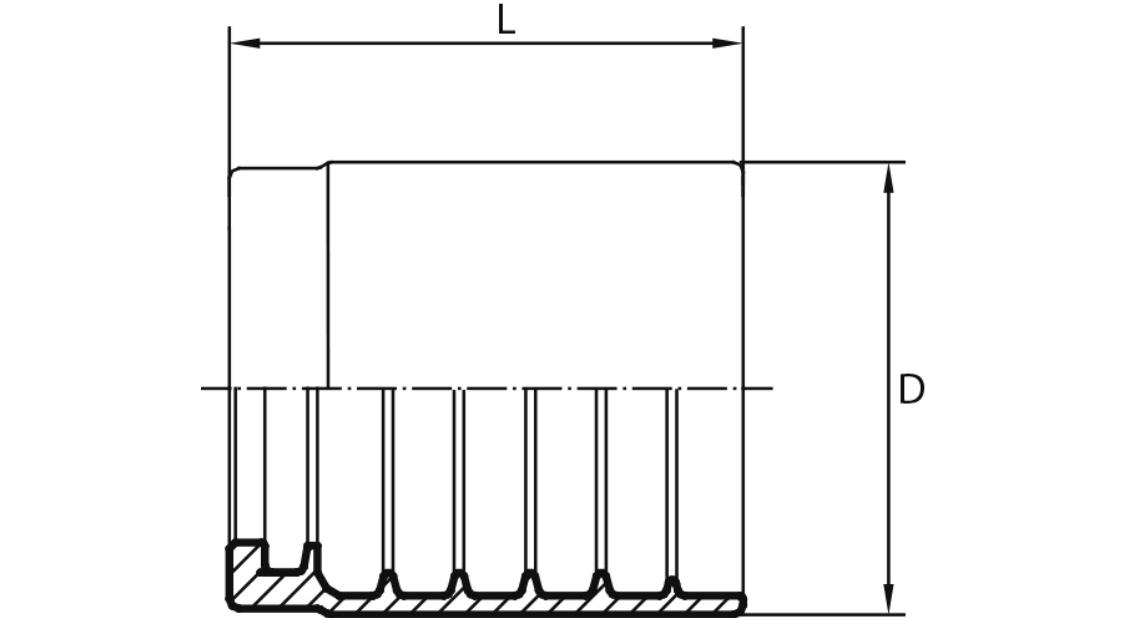 ČAURE 1SC-1SN-2SC NO SKIVE (bez guljenja)