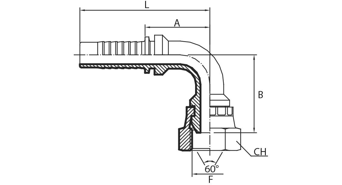 A51 - Priključak matica BSPP 90° (DKR)