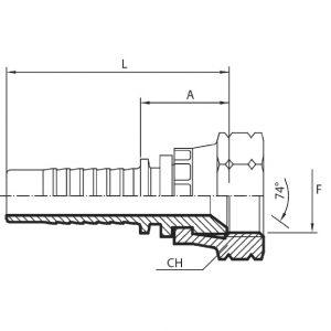 D50 - Priključak matica JIC (DKJ)