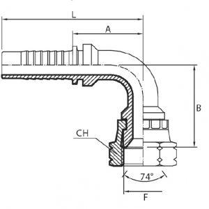 D51 - Priključak matica 90° JIC (DKJ)
